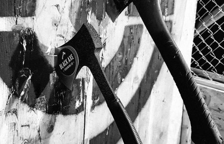 Black Axe Throwing Axes-in-target